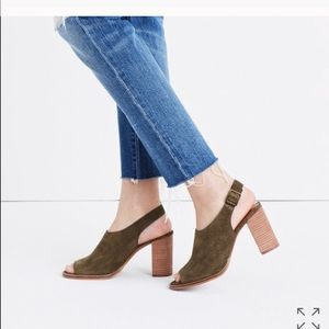 Madewell The Cary Suede Sandal Stacked Heel